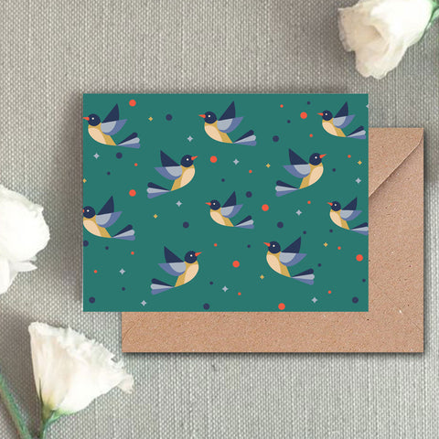 Greeting Card - Bird Pattern - propshop-24