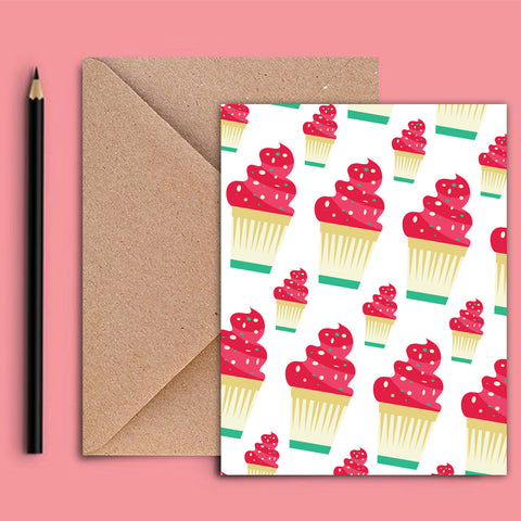 Greeting Card - Cupcakes - propshop-24