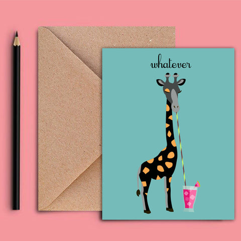Greeting Card - Giraffe - propshop-24