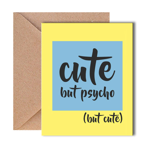 Greeting Card - Psychotic - propshop-24
