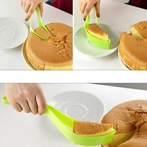 Cake Slicer And Server - Green-DINING + KITCHEN-PropShop24.com