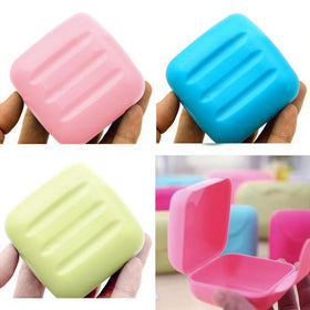 Travel Soap Case - Small Size - SET OF 2 - ASSORTED COLORS-HOME-PropShop24.com