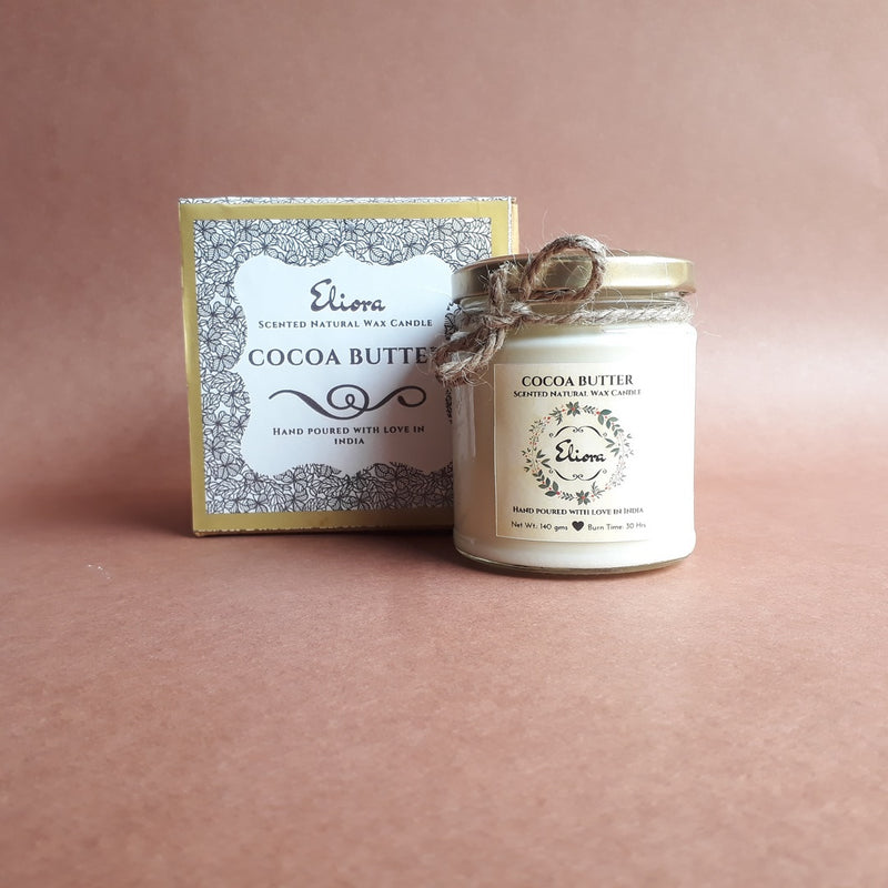 Cocoa Butter Scented Natural Wax Candle-CANDLES + AROMA-PropShop24.com