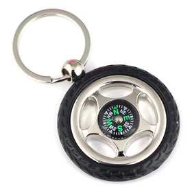 Compass Keychain - Tire Shape-TRAVEL ESSENTIALS-PropShop24.com