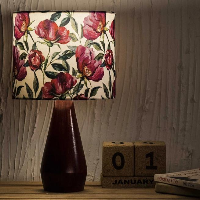 Table Lamp - Round Shade - Floral-HOME ACCESSORIES-PropShop24.com