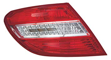 2048201964 TAIL LAMP LEFT SIDE W204 C CLASS HALF LED NEW 2010-2011