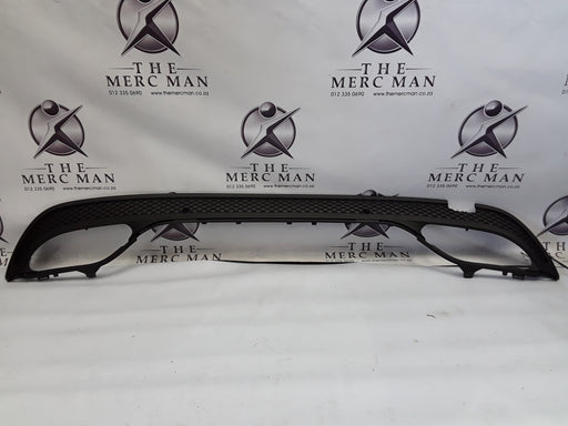 A2058856438 W205 C Class Diffuser Rear Bumper Amg New 2 pipes