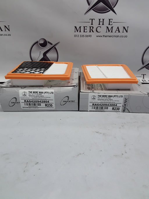 A6420942804/A6420943004 Air Filter Set Om642 Diesel V6 Left & Right New