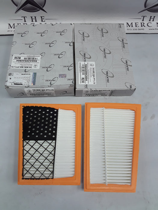 6420942804/6420943004 Air Filter Set Om642 Diesel V6 Left & Right New
