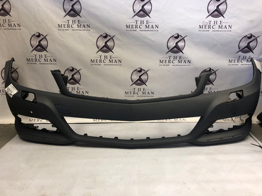 2048806447 Front Bumper W204 Mercedes C Class Facelift + PDC + Chrome + Washer new