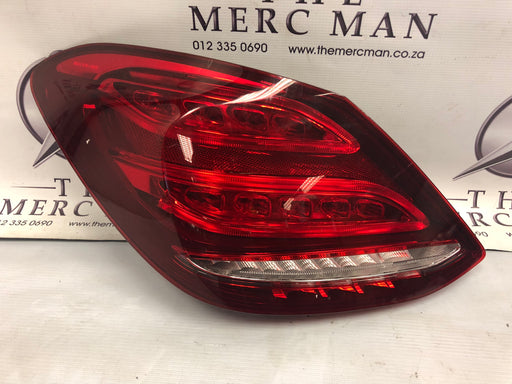 2059061357 Tail Lamp W205 Mercedes C Class Left Side LED Used
