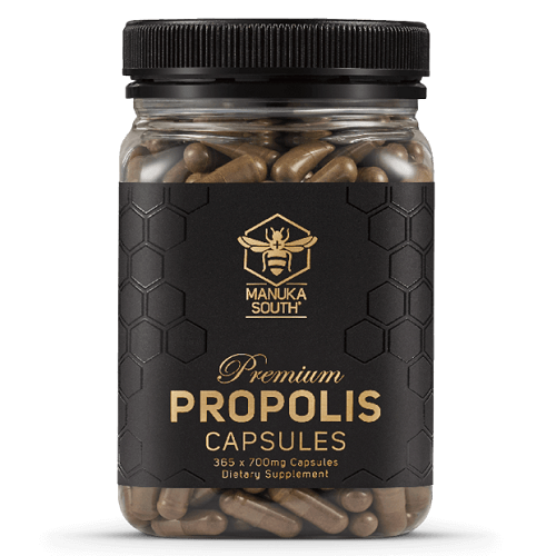Premium Propolis Capsules 700mg x 365 - Immune Response and Digestive Health - Manuka Canada, Honey World Store