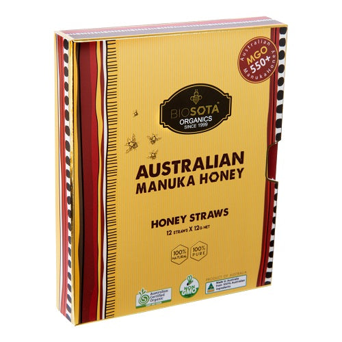 "MGO 550+  Manuka Honey Straws *****  ""Honey on the GO"" 12 pcs x 12g each - Manuka Canada, Honey World Store"