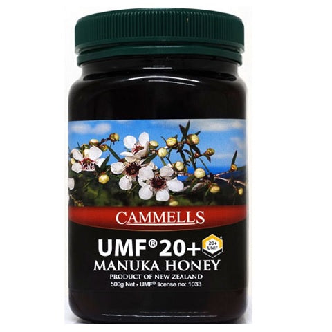 CAMMELLS Manuka Honey UMF 20+, MGO 829 mg/kg, 500g - Manuka Canada, Honey World Store