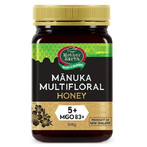 MOTHER EARTH Manuka Multifloral Honey 5+ MGO 83 mg/kg, 500g - Manuka Canada, Honey World Store