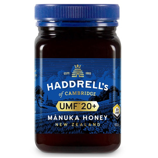 HADDRELLS Manuka Honey UMF 20+, MGO 859 mg/kg, 500g - Manuka Canada, Honey World Store