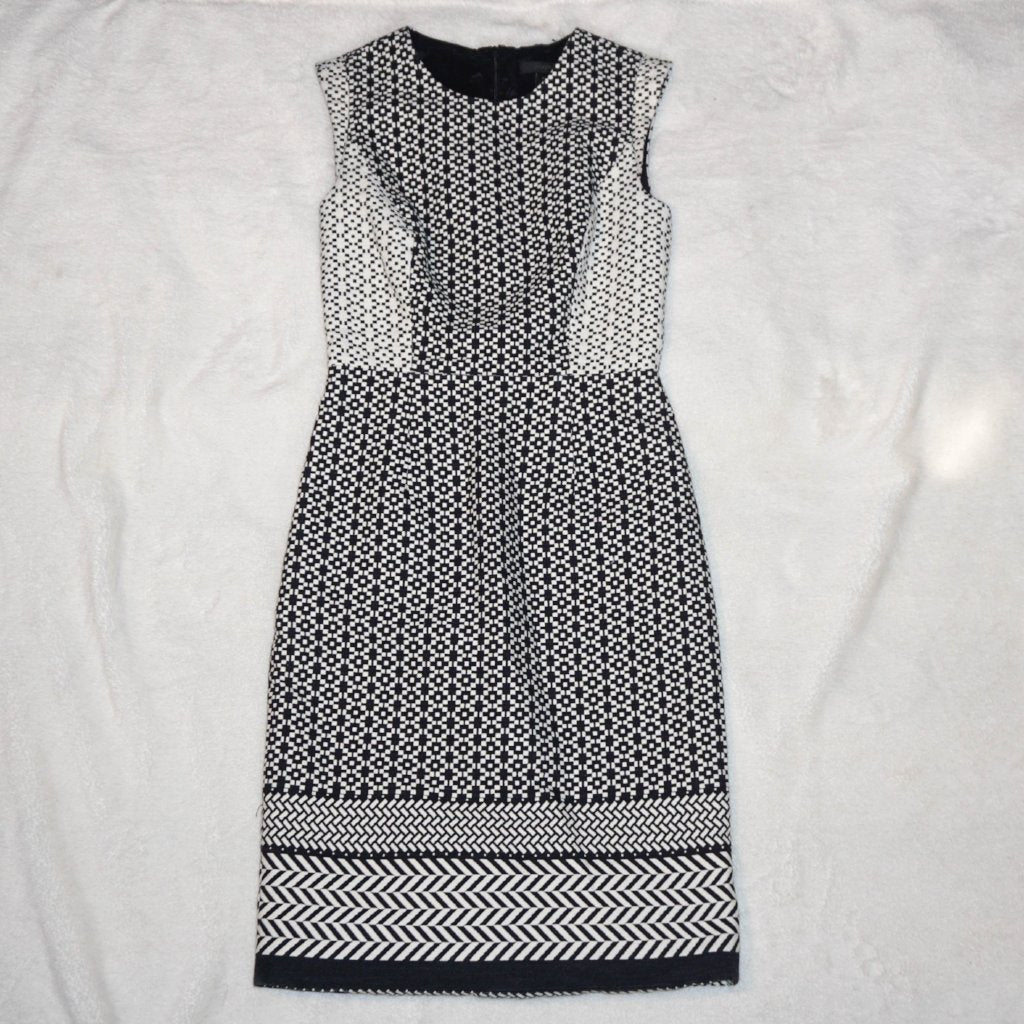 J Crew Paneled Geometric Dress