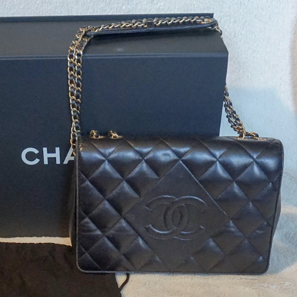 Chanel Diamond Single Flap Handbag - Kaitlyn Athena