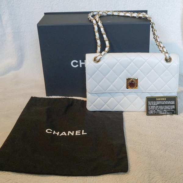 Chanel Vintage Resin Lock Shoulder Bag