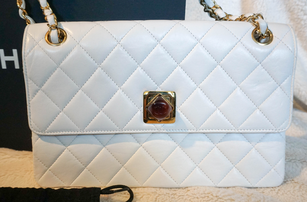 Chanel Vintage Resin Lock Shoulder Bag - Kaitlyn Athena