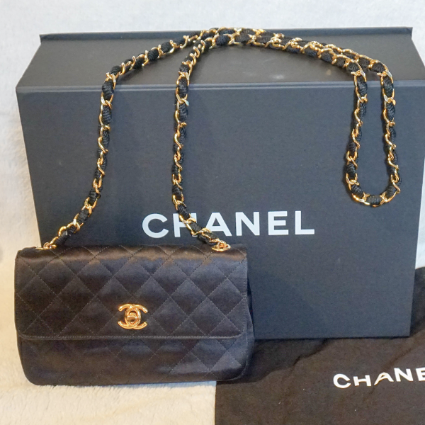 Chanel Classic Mini Quilted Satin Evening Bag - Kaitlyn Athena