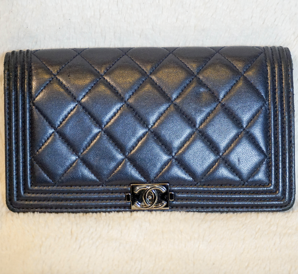 Chanel Le Boy Lambskin Wallet