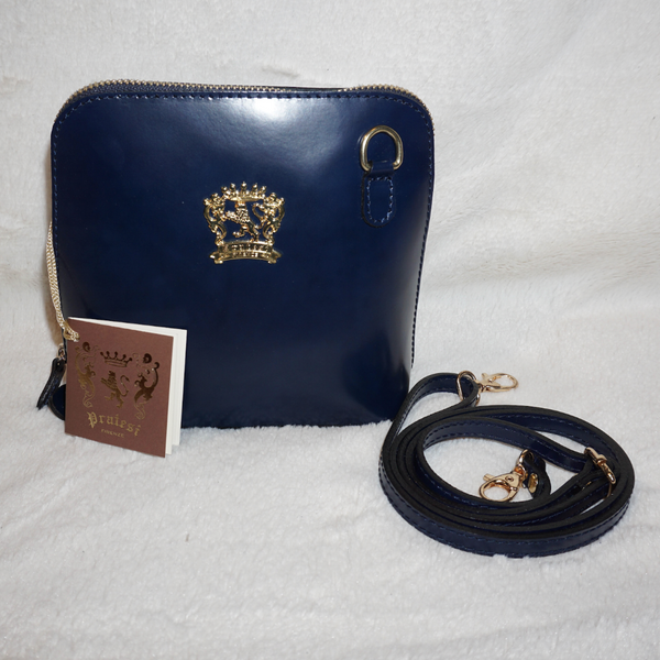 Pratesi Italian Leather Volterra Small Crossbody Bag