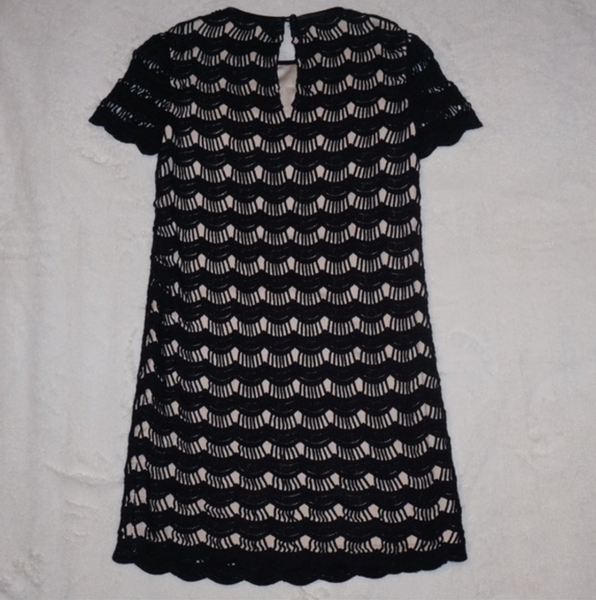 Kate Spade Virginia Short-sleeve Scalloped Lace Dress