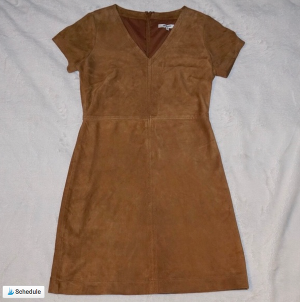 Madewell Suede Leather Shift Dress - Kaitlyn Athena