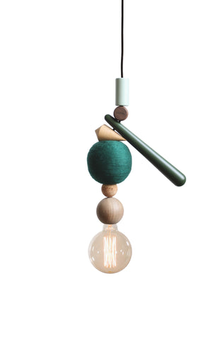 The Urban Jungle Bloggers pendant is a limited design lamp, consisting of materials like oak, walnut, wenge, kork, wool and colored elements. All made and manufactured in Scandinavia