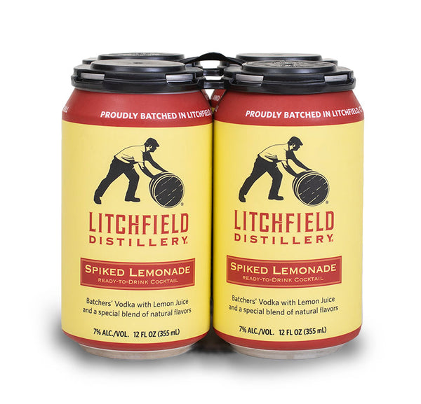 "Litchfield Distillery ""Spiked Lemonade"" Cocktail Cans: 4-Pack"