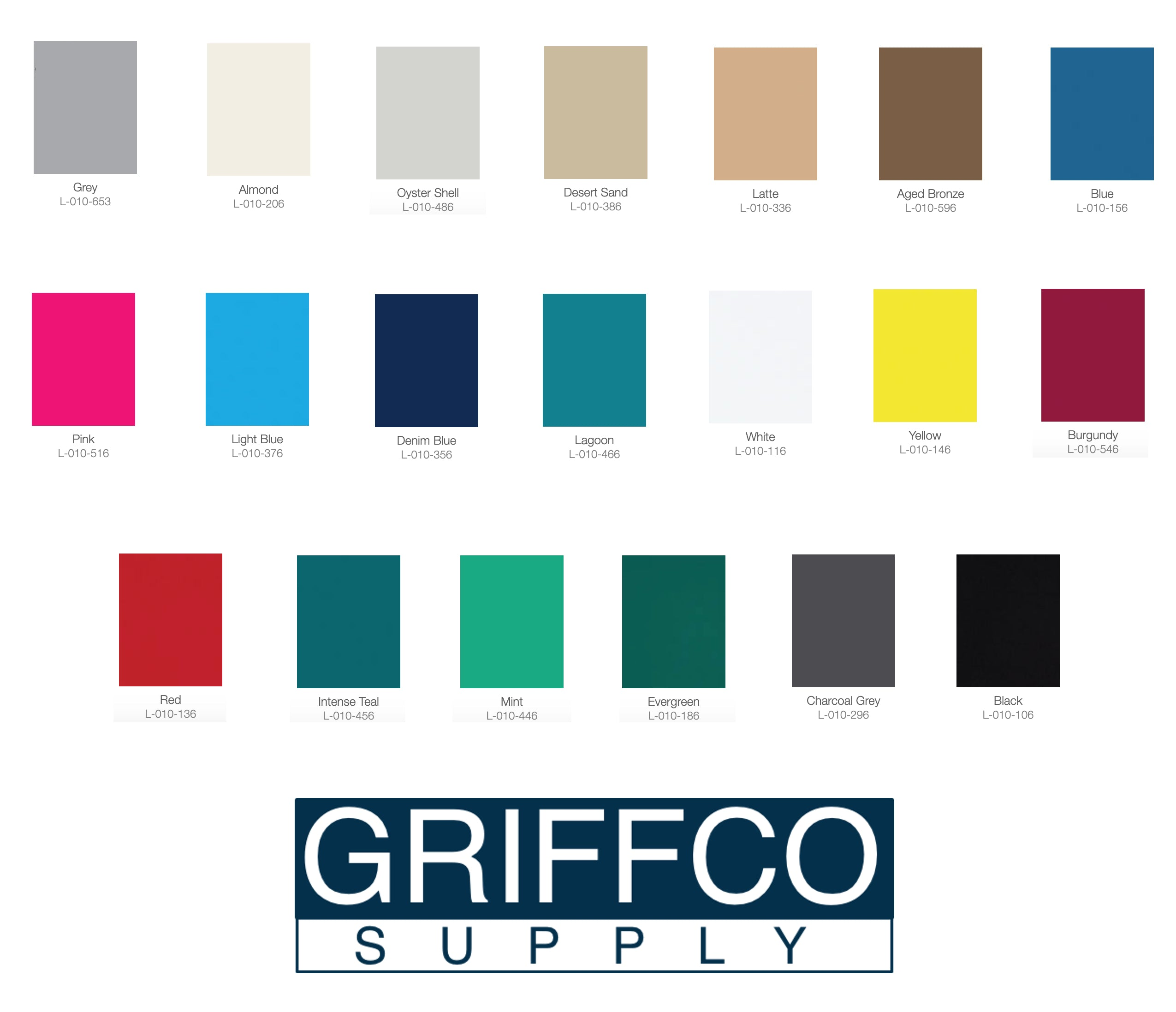 Griffco Supply ADA Grade 2 Braille background color options