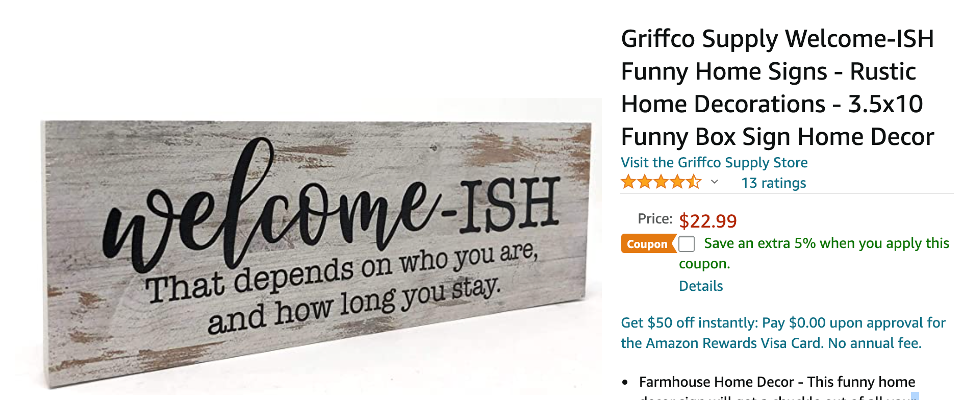 Welcomeish sign with customer reviews