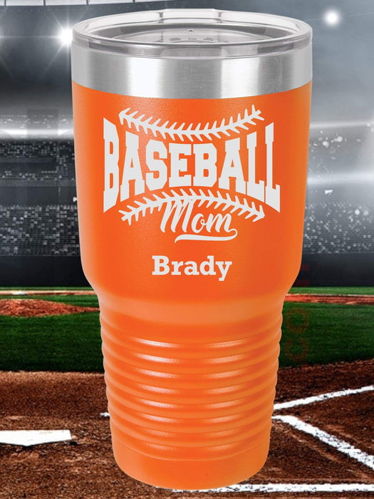 Baseball Mom 2 Personalized Tumbler