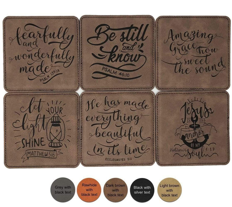 Bible Verse Leatherette Coasters