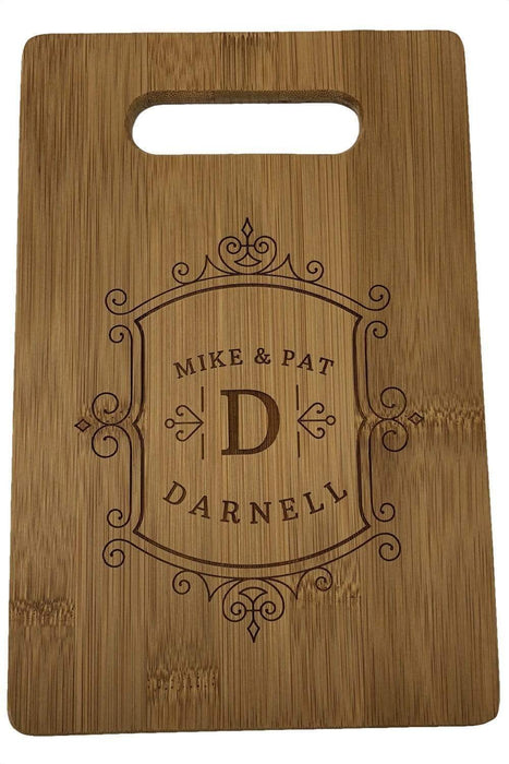 Engraved Bamboo Wood Cutting Board