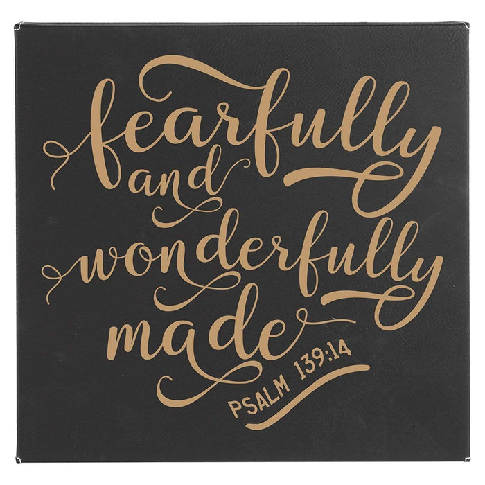 Fearfully and Wonderfully Made Leatherette Wall Hanging