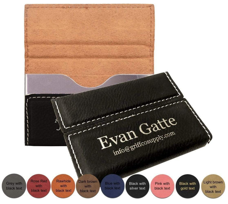 Personalized Leatherette Business Card Holder