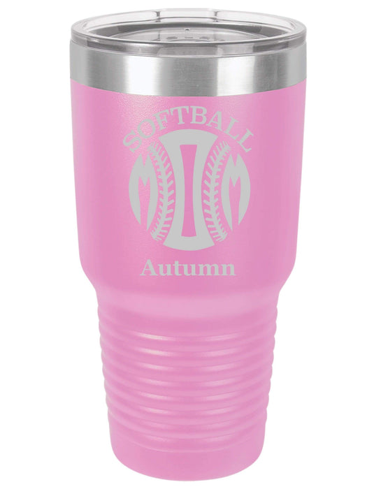 Softball Mom Personalized Tumbler (Style 1)