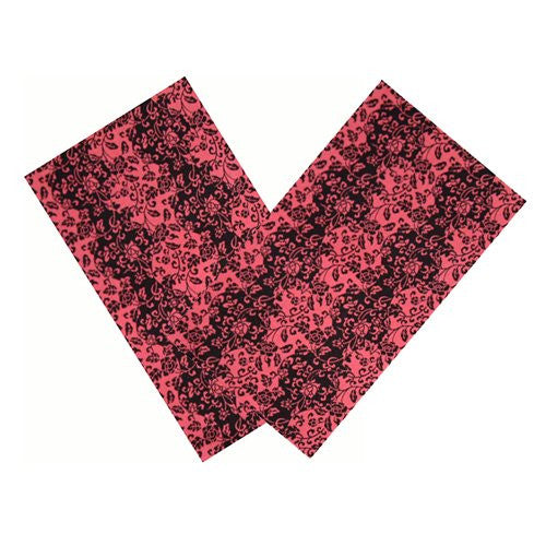 ROSE & BLACK FLORAL VINES NAPKIN SET