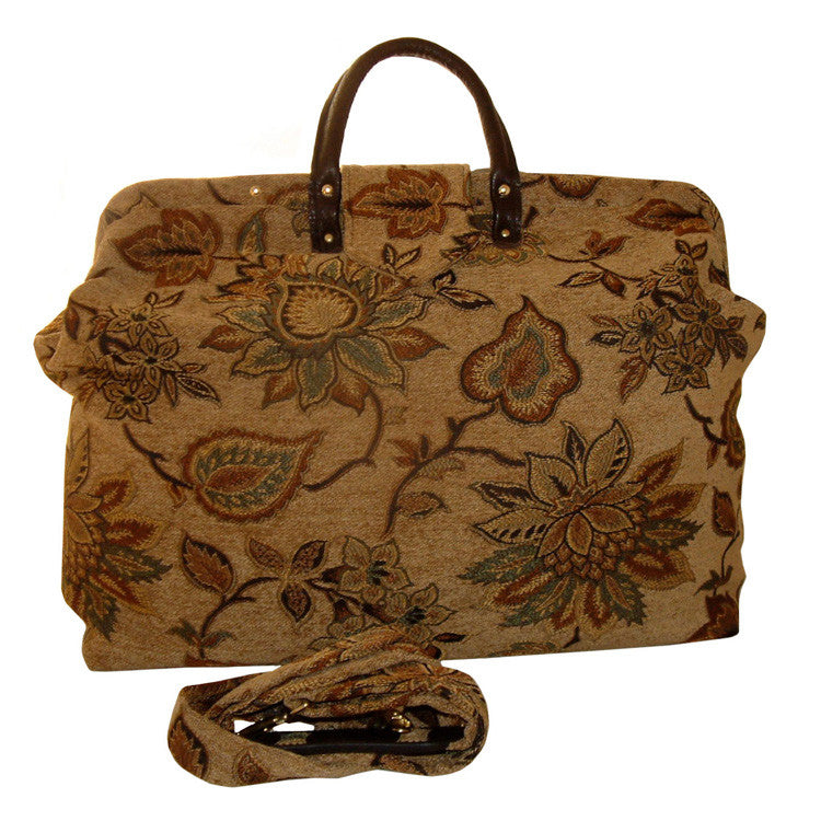 FALLING LEAVES CHENILLE CARPET BAG