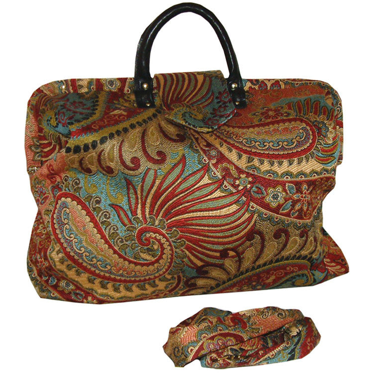 MOD PAISLEY TAPESTRY CARPET BAG