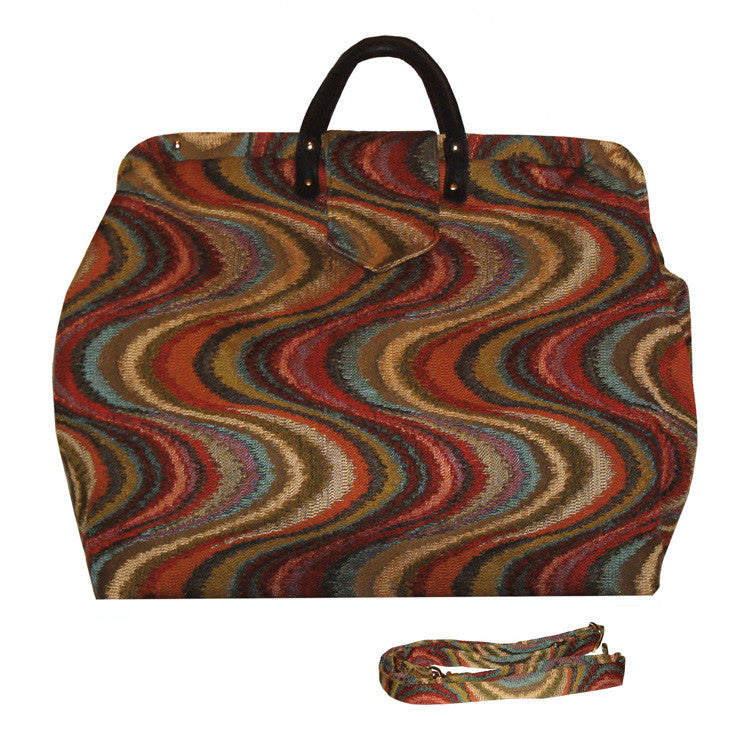 AUTUMN WAVES TAPESTRY CARPET BAG