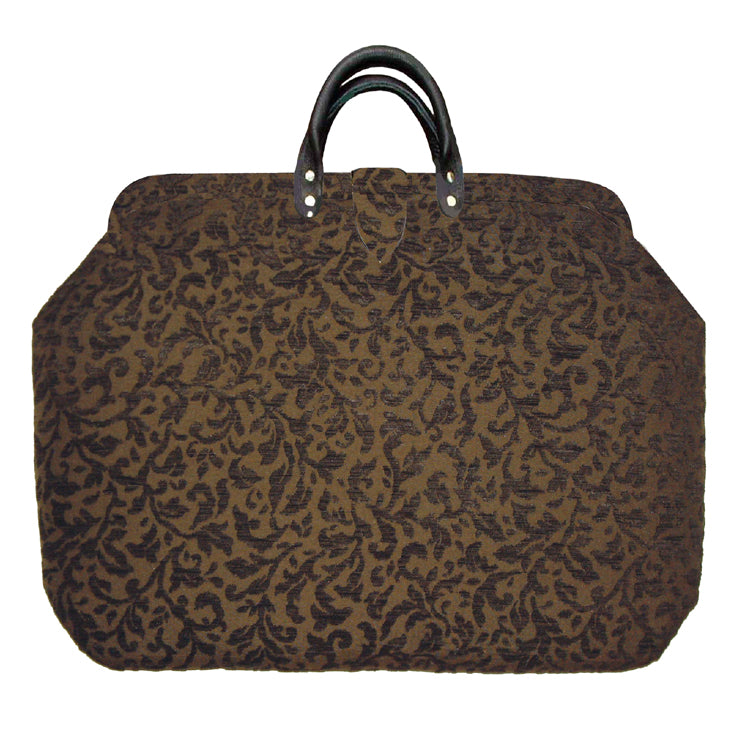 Mocha Vines Chenille Handbag Tapestry Carpet Bag