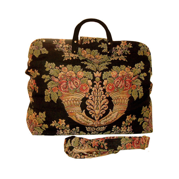 MULTICOLORED FLORAL SCONCES TAPESTRY CARPET BAG