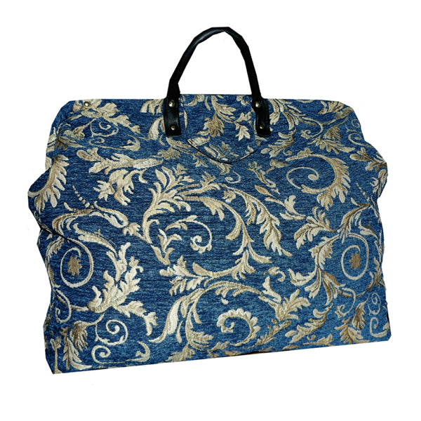 MIDNIGHT SWIRL CHENILLE TAPESTRY CARPET BAG