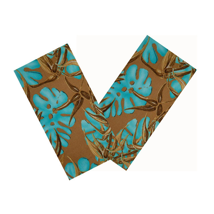 TURQUOISE & BROWN LEAF NAPKIN SET