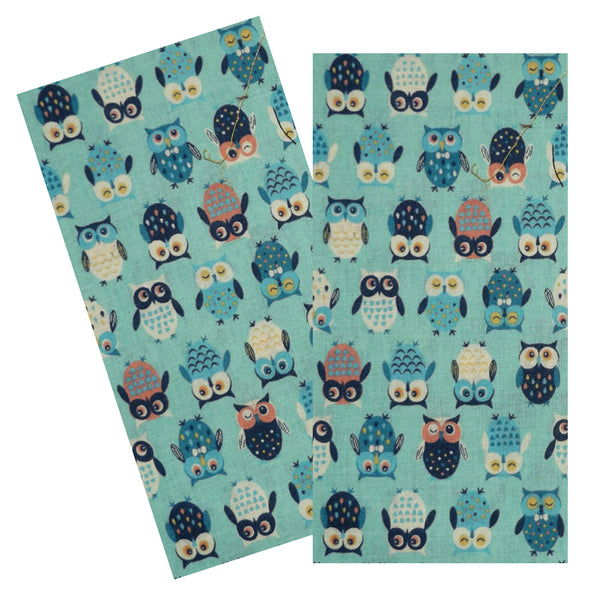 AQUA & BLUE OWLS NAPKIN SET