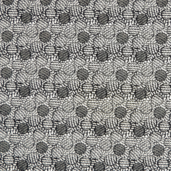 BLACK & GREY ABSTRACT PRINT 'ACHILLES' LIBERTY LAWN COTTON HANDKERCHIEF