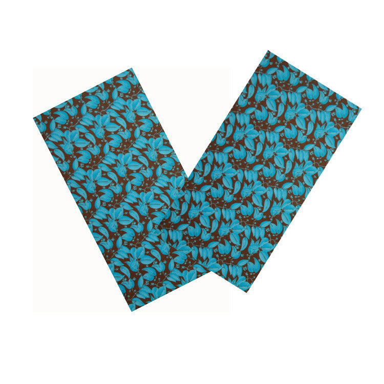 BLUE & BROWN LEAF NAPKIN SET